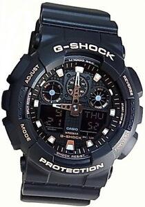 Details about Casio G Shock Black & Brilliant Rose Gold Men's Watch GA 100GBX 1A4