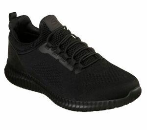 Skechers-Noir-Chaussures-De-Travail-Homme-Confort-Slip-on-Antiderapant-Memoire-Foam-77188