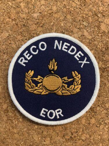 Ecusson Reco Nedex EOR bleu Armee Police Gendarmerie