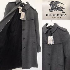 Burberry Coat Grey Wool Cashmere Blend Long Coat Jacket | BNWT | Size UK 6 |