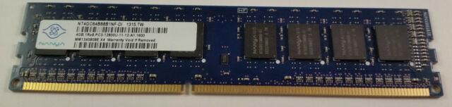 4GB RAM Nanya NT4GC64B88B1NF-DI DDR3 PC3-12800U 1600Mhz 1RX8 Cl11