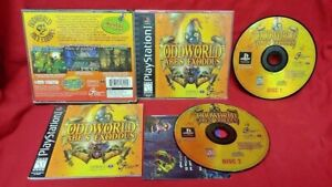 Oddworld-Abe-039-s-Exoddus-Playstation-1-2-PS1-PS2-Game-Complete-Tested-Works-Rare