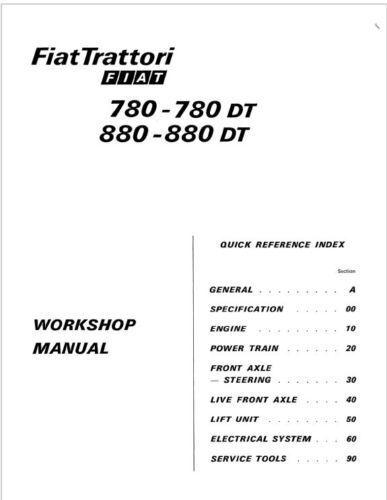 manual tractor fiat 780