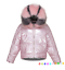 Womens-Quilted-Puffer-Short-Parka-Jacket-Fur-Hooded-Down-Shiny-Warm-Coat-Outwear thumbnail 22