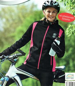 Damen-Softshelljacke-Jacke-mit-reflektierenden-Elementen-Fahrradjacke-Oko-Tex
