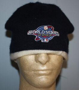 2002 MLB World Series Los Angeles Anaheim Angels Beanie Skull Hat ... cc639ab7e19