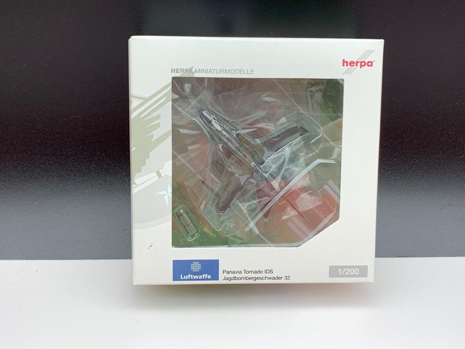 Herpa 552370 aereo modelli in miniatura aereo 1 200. mai estratto dalla confezione. Top