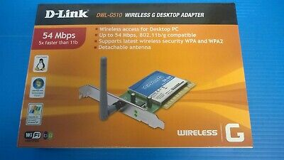 D-LINK DWL-G510 WIRELESS ADAPTER DOWNLOAD DRIVERS