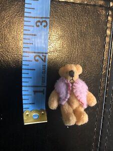 DOLLHOUSE Toy Teddy Bear Brown 1.5 in WMB World of Miniature Bears