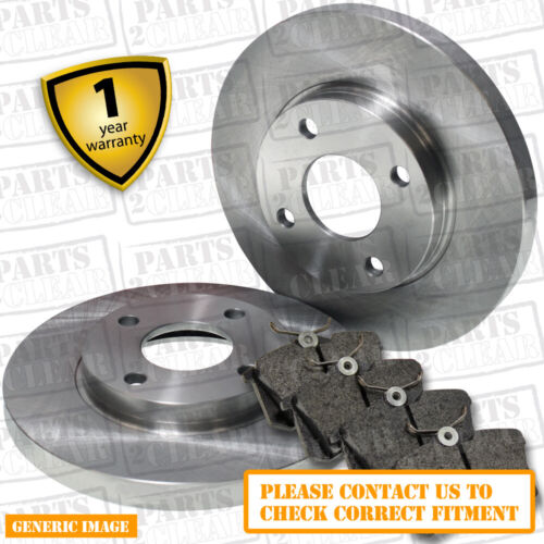 Brake Discs 304mm Solid Fits Land Rover Discovery 4.0 V8 4x4 Rear Brake Pads