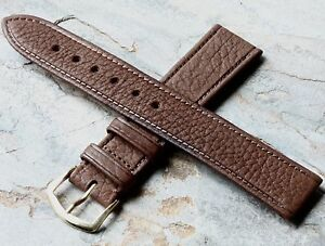 Vintage-18mm-Bulova-Aerojet-watch-strap-1960s-70s-NOS-textured-leather-15-sold