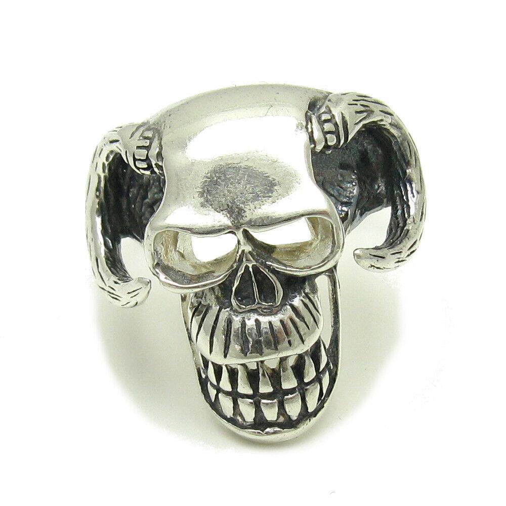 925 silver RING Totenkopf Teufel R001563