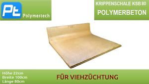 Polymerbeton Krippenschale Futterschale KSB 80 17cm//80cm//100cm für Viehzucht