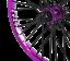Tribal-BMX-Rear-Wheel-20-034-Rim-9-Tooth-Cassette-Hub-Purple miniatura 2