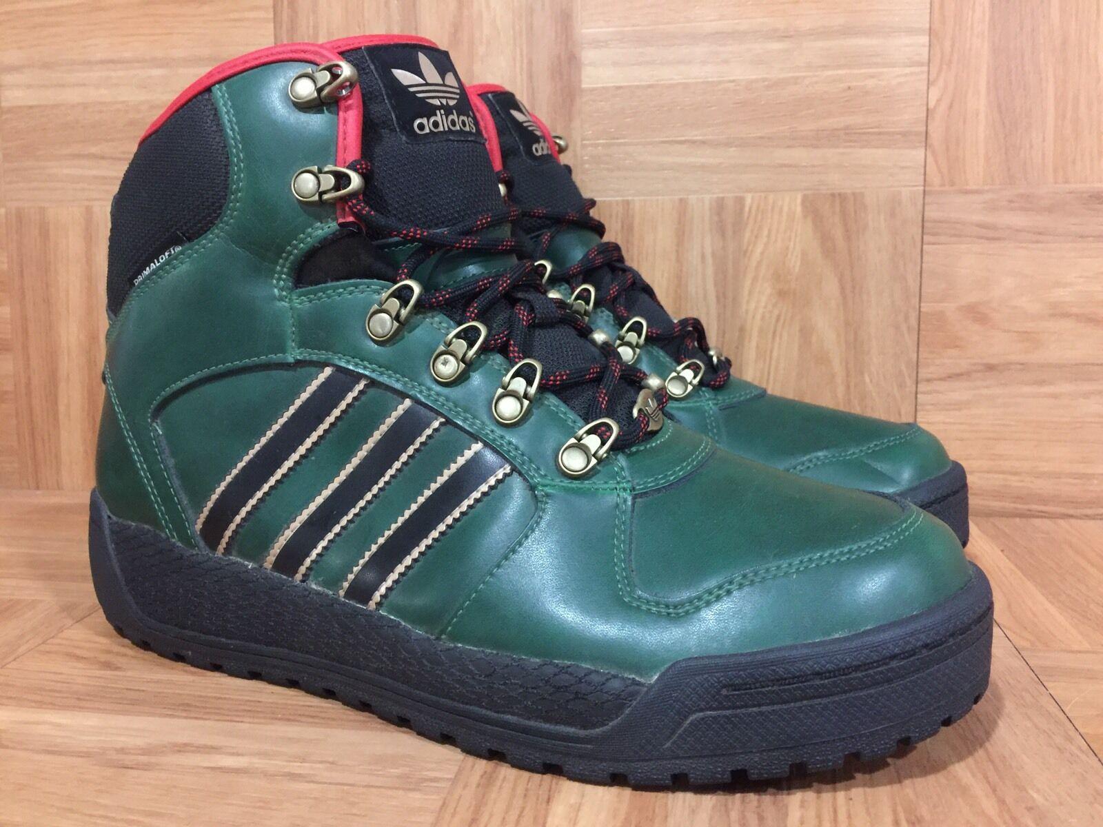 RARE� Adidas Winterball Hiker Boots Dark Green Black Scarlet Sz 8 Men's Q32957
