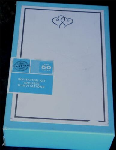 BRAND NEW IN BOX Gartner Invitation Kit 50 Count NEW CHOOSE COLOR//PATTERN