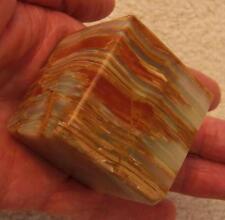 "FABULOUS 1-5/8"" Cube Petrified Wood Teachers Desk PAPERWEIGHT"