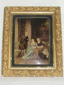 07f48 Ancienne Lithographie En Couleur SignÉe Peintre Allemand Otto Erdmann 1900
