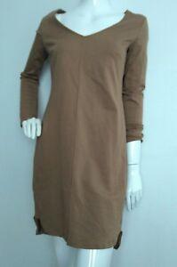 Ghost Tan Ponte Long Once Sleeve S Dress London Size used Shift Designer ZwdTqPT