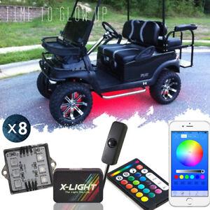 X-LIGHT Multi Color Golf Cart Underglow LED Neon Light Kit w/ App Remote Control