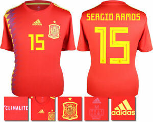 huge discount 5ba14 e29d1 Details about SERGIO RAMOS 15 - SPAIN HOME 2018 WORLD CUP ADIDAS SHIRT SS =  ADULTS