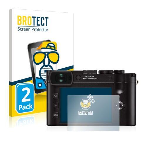 2x Leica Q2 Mate Película De Protección Protector De Pantalla Antirreflejo