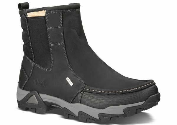 AHNU TAMARACK MEN'S HIKING stivali INSULATED nero LEATHER -US Dimensione 8 -NIB