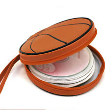 Stylish BASKET BALL Carrying Storage Bag 24 CD / DVD disk Brown Case Holder