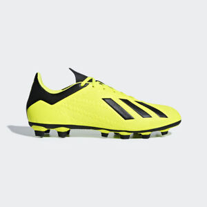 9d3a8bd00 Adidas Men s X 18.4 FxG Soccer Cleats (Solar Yellow Black) DB2188 ...