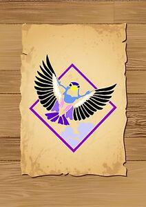 Small-Flying-Garden-Bird-Stencil-350-micron-Mylar-not-thin-stuff-Bird012