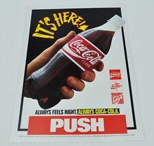 Grande 25 cm coca-cola coke PUSH Adesivo Sticker Decal bottiglia bottle mano