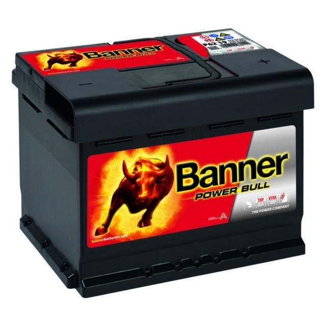 Banner Power Bull P6219 62Ah 12V Autobatterie ersetzt Starterbatterie 55Ah 60Ah