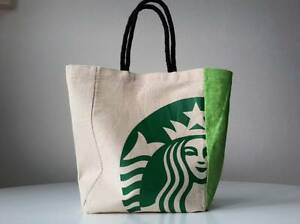 Image Is Loading Rare Starbucks Small Tote Bag Reusable Calico Siren
