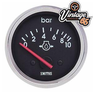 Smiths-Oldtimer-52mm-Oldruckanzeige-Chrom-Blende-Rennen-Rally-Kit