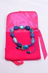 Lola Rose Chunky Friendship Bracelet - Turquoise & Deep Blue Stones