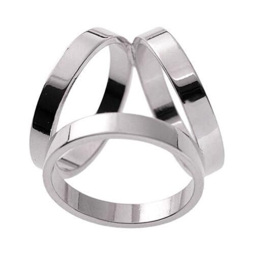 Mode 3 Ringe Seidenschal Schnalle Schal Ring Clip Silber X5B8 VT