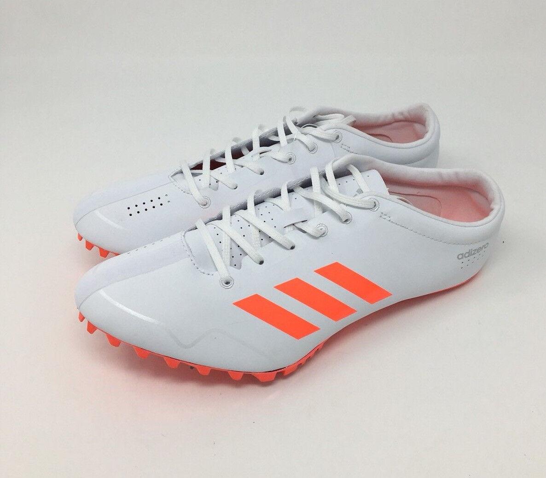 Adidas Adizero Prime SP Print Track Spike shoes  White orange SZ 13 ( BB4117 )