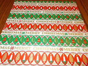 image is loading vintage christmas wrapping paper unused gift wrap mcm - Vintage Christmas Wrapping Paper
