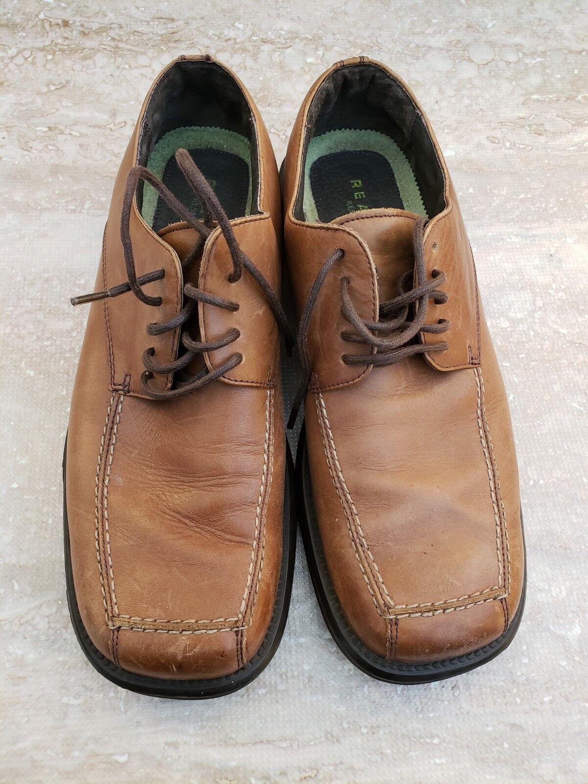 Kenneth Cole Reaction Dress Shoes Lace Up Men's Brown Size 8.5 MSquare Toe