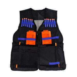 Tactical Vest Kids Toy Gun Clip Jacket Foam Bullet Holder For Nerf N-strike EK##