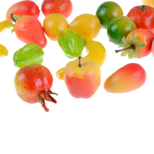 10pcs Many Kinds Of Fruit Miniature Dollhouse Decor Handmade Food Supply TO