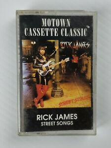 Rick-James-Street-Songs-Cassette-1992-Motown-Clear-Reissue-FREE-SHIPPING