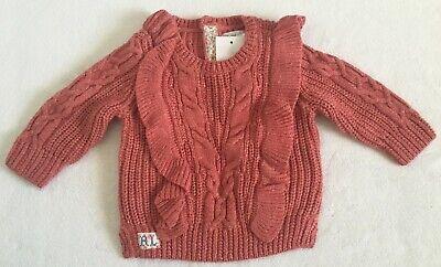 c1c0abf57d Polo Ralph Lauren Baby Girls Aran-Knit Cotton Sweater Vintage Red ...