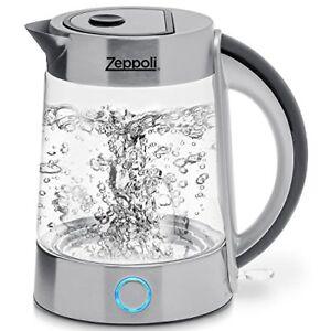 Zeppoli Electric Kettle Bpa Free Fast Boiling Glass