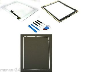 Apple-iPad-3-toucher-Ecran-Numeriseur-en-verre-disque-blanc-A1430-CADRE