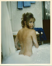 Suzy Kendall 8x10 photo glamour pose naked in bubble bath