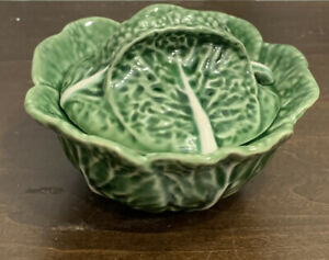 Vintage Jay Willfred Majolica Cabbage Soup Tureen With Underplate Mint Ebay