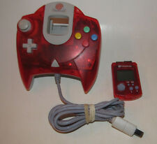 Official SEGA Dreamcast Controller Clear Red w/ Matching VMU New Batteries OEM
