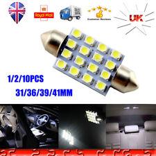 SODIAL 10 Pcs Lamp Light Torpedo 6 SMD LED White Dc 12v For Car License Plate 39mm R