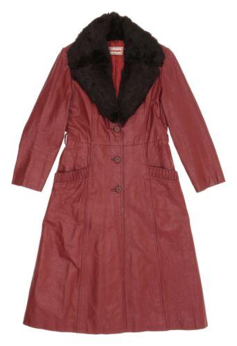 Vintage FOXMOOR Leather & Fur Collar Jacket S Smal